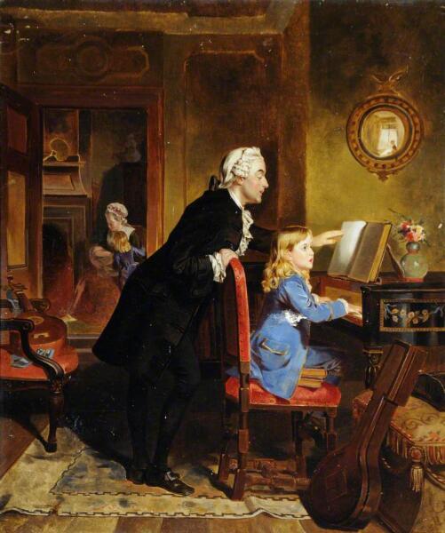 Эбенейзер Кроуфорд, «Леопольд Моцарт занимается с сыном»