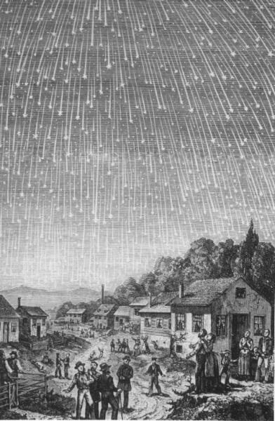 Метеорный поток Леониды в 1833 г.