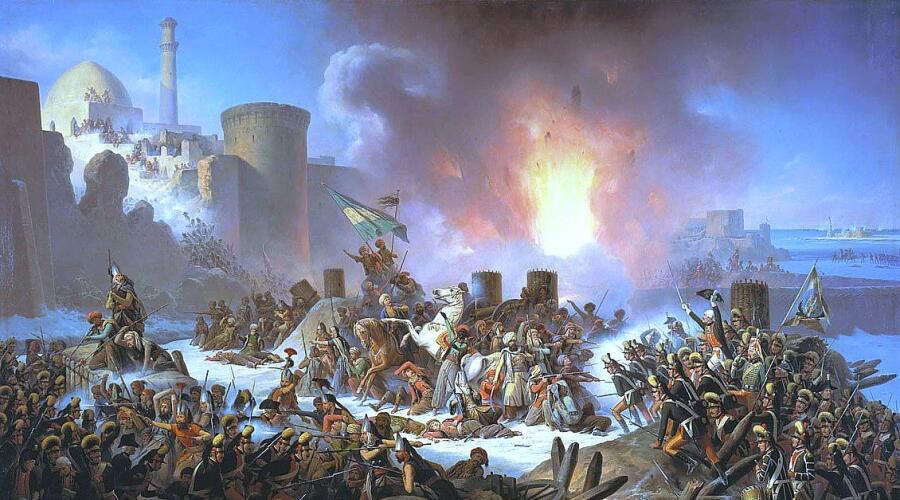 Я. Суходольский, «Штурм Очакова 6 декабря 1788 года»