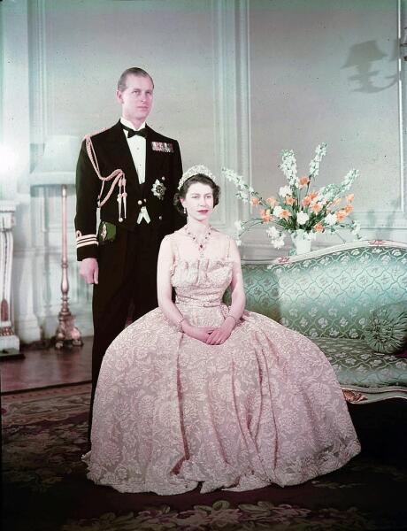 Принцесса Елизавета и герцог Эдинбургский Филипп в 1950 г.