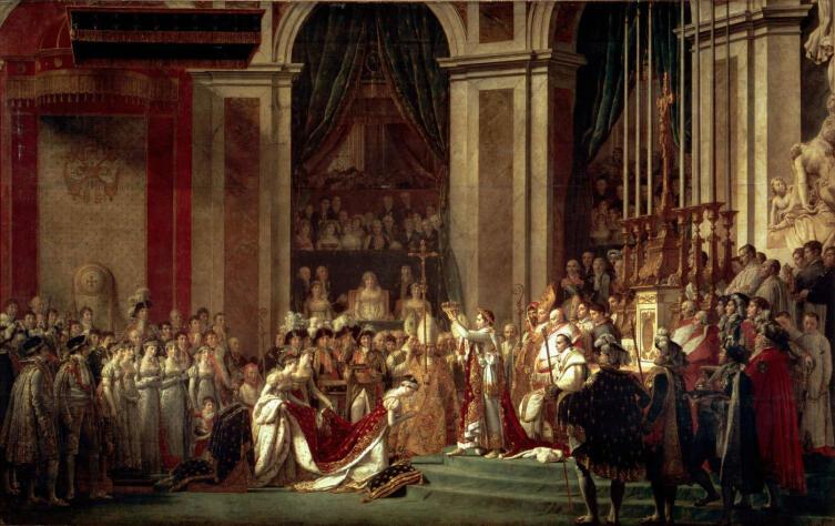 Жак Луи Давид, «Коронование императора Наполеона I и императрицы Жозефины в соборе Парижской Богоматери 2 декабря 1804 года», 1805—1808 гг.