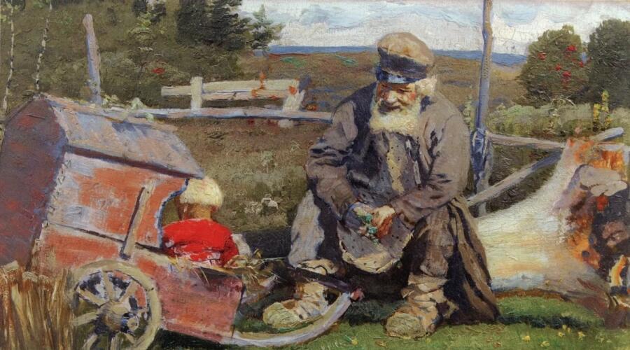 М. В. Нестеров, «Старый да малый», 1887 г.