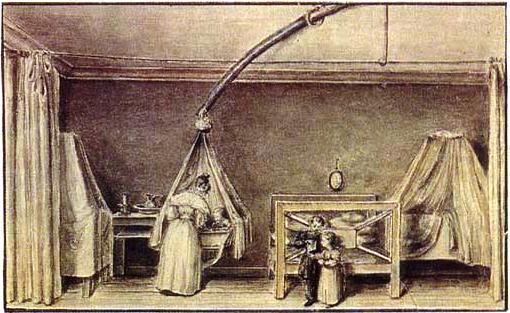Давыдова А. И. с детьми в Петровском заводе, 1835 г.