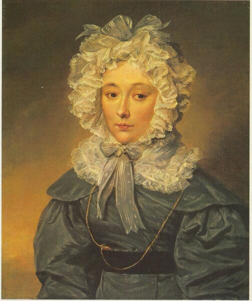 Вера Алексеевна Муравьева, портрет неизвестного художника, 1820-е гг.