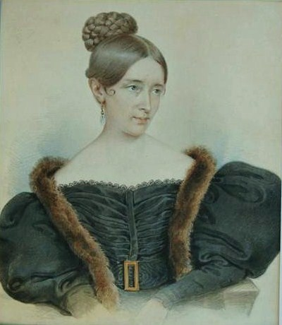 Портрет Бороздиной. Кто именно изображен на портрете, Мария или Екатерина, неизвестно