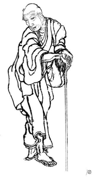 Хокусай Кацусика, родоначальник манги. Автопортрет