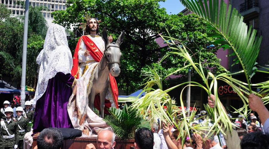 Вербное (пальмовое) воскресенье в Колумбии