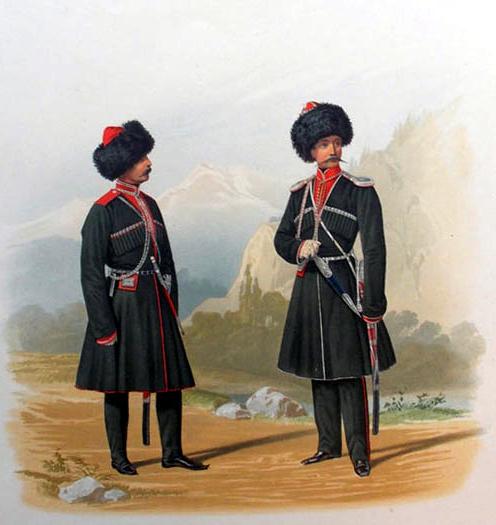 Пиратский К. К. Всадник и Обер-Офицер Кубанского Конно-Иррегулярного Эскадрона. 1861 г.