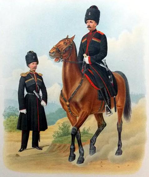 Губарев П. К. Конно-артиллерийские батареи Кубанского и Терского войск. 1871 г.