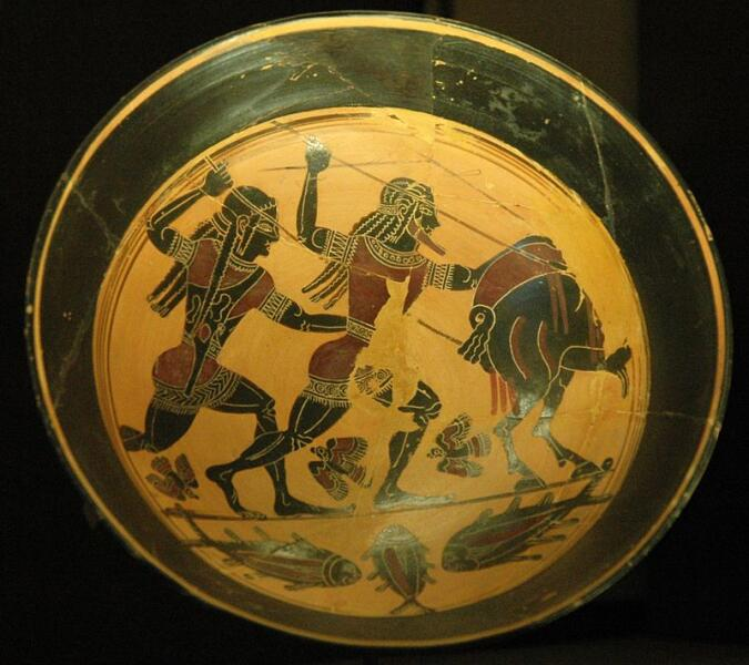 Лаконская ваза с изображением Калидонской охоты