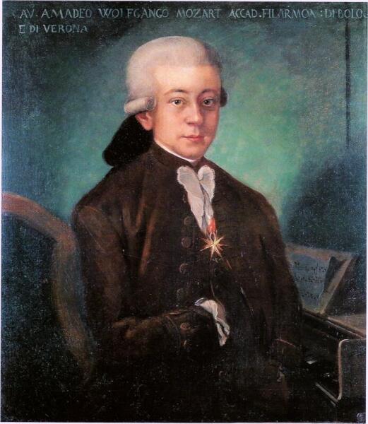 Моцарт в Италии, автор картины неизвестен