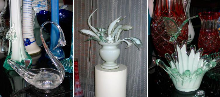 Экспонаты «Музея стекла», г.Вышний Волочёк