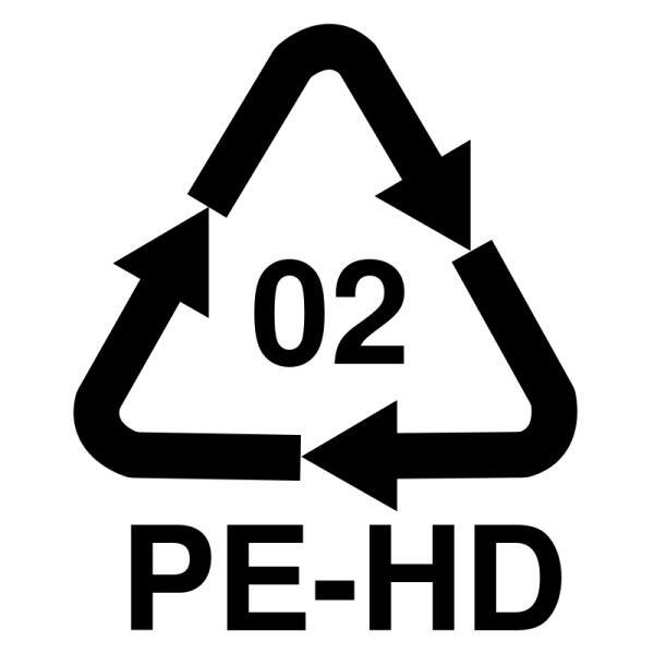 Международный знак вторичной переработки для полиэтилена высокой плотности