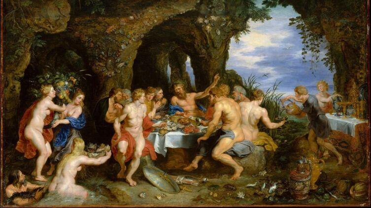 Рубенс, Пир Ахелоя, 1615 г., 108×164 см, Метрополитенмузей, Нью-Йорк, США