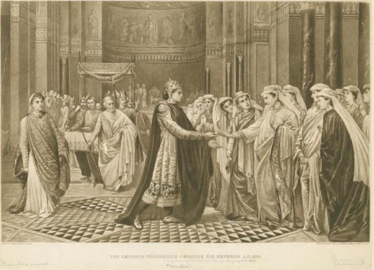 Император Феофил отвергает несогласную Кассию