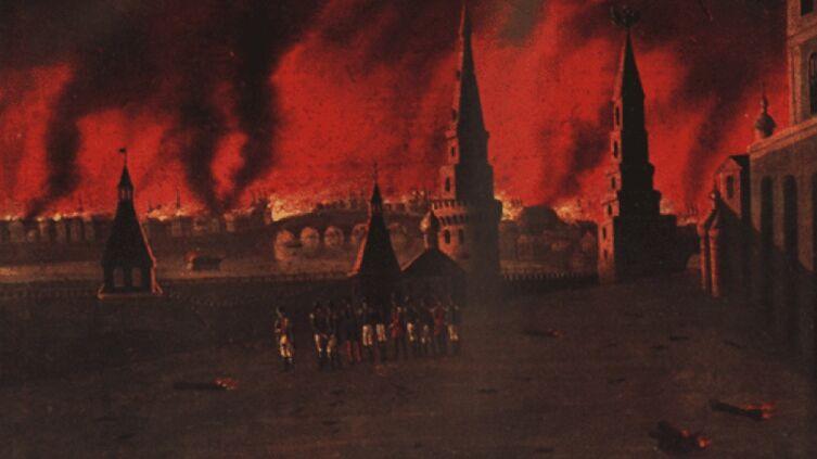 Ф. Вендрамини, «Великий пожар в Москве»