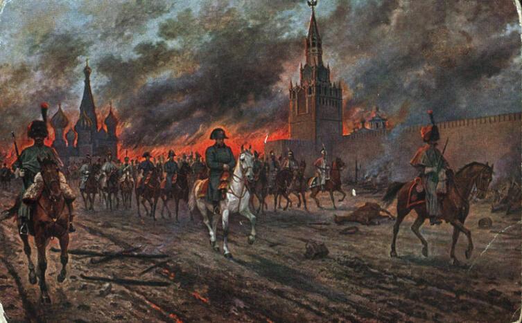 В. Мазуровский, «Московский пожар (1812)», 1910-е годы