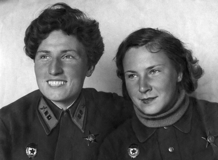 Лидия Владимировна (Лиля) Литвяк и Екатерина Васильевна Буданова