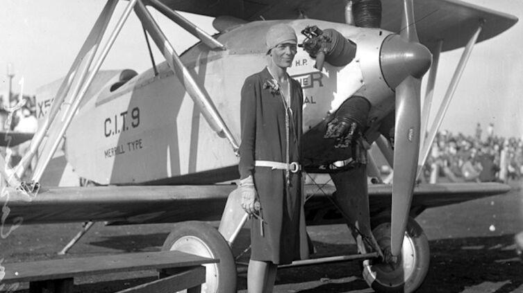 Амелия Эрхарт, Лос-Анджелес, 1928 г.