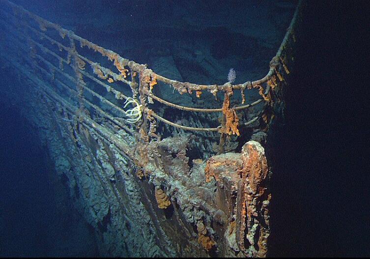 Нос «Титаника» в 2004 г.