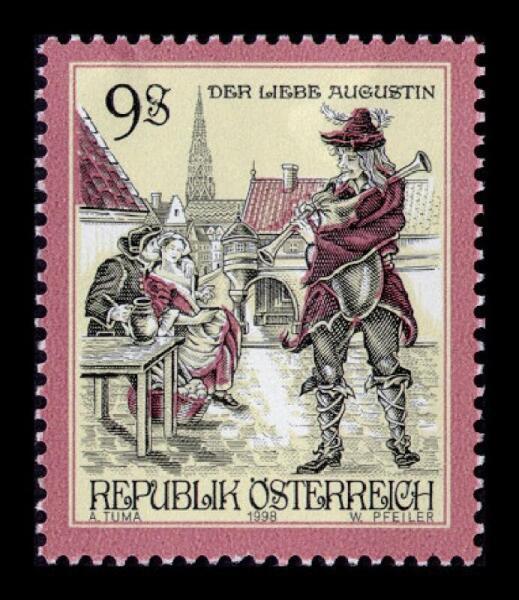 Австрийская марка, посвященная милому Августину