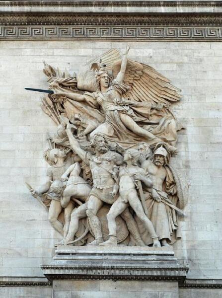 Марсельеза. Триумфальная арка в Париже