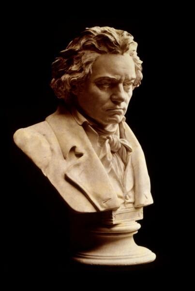 Бюст Бетховена на основе посмертной маски