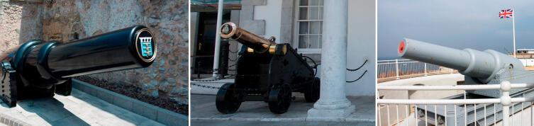 Старинные орудия Гибралтара