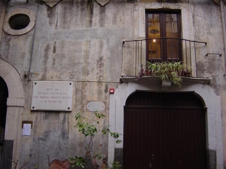 Дом, в котором родился Беллини, на Сицилии