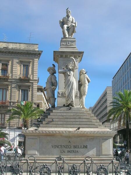 Памятник Беллини на Сицилии