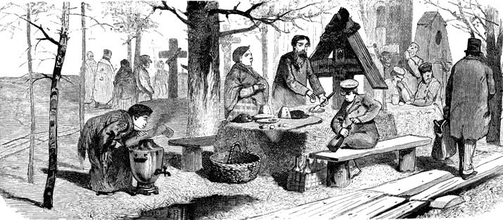 Поминки на Радоницу, XIX век