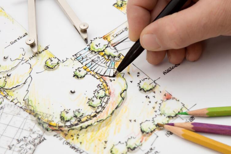 Скетчинг в работе ландшафтного дизайнера