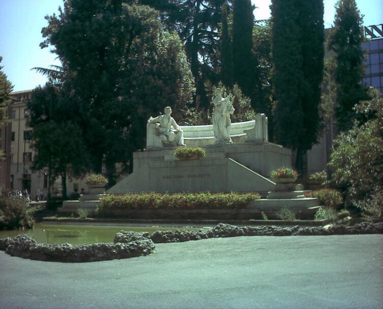 Фонтан Доницетти в Бергамо