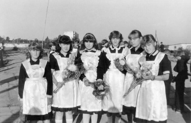 Советские школьницы, 1985 г.