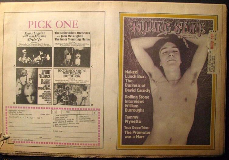 Обложка журнала «Rolling Stone», май 1972 г.