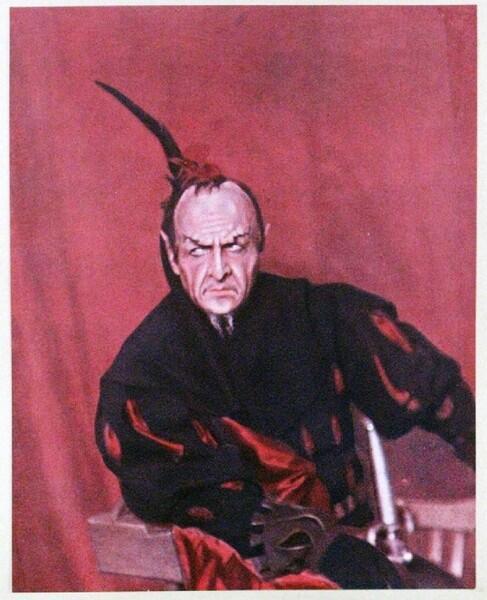 Шаляпин в роли Мефистофеля. 1915 г.