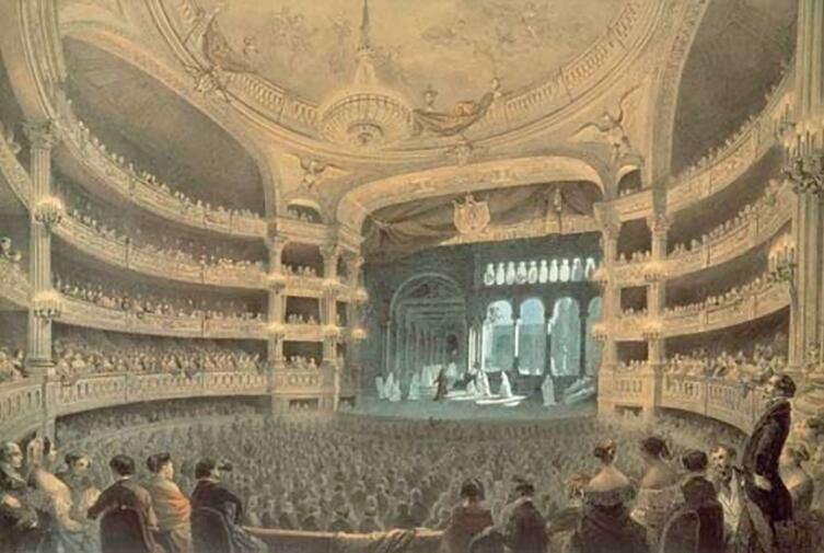 Роберт-Дьявол (3 акт 2 сцена, Балет монахинь), Парижская Опера (Зал Le Peletier), 1832г.