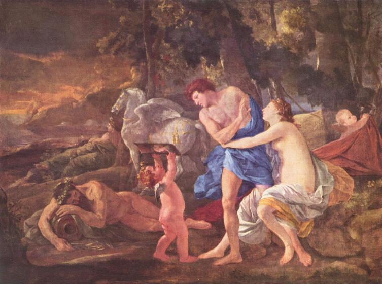 Никола Пуссен, «Кефал и Эос». В греческой мифологии Эос - Аврора