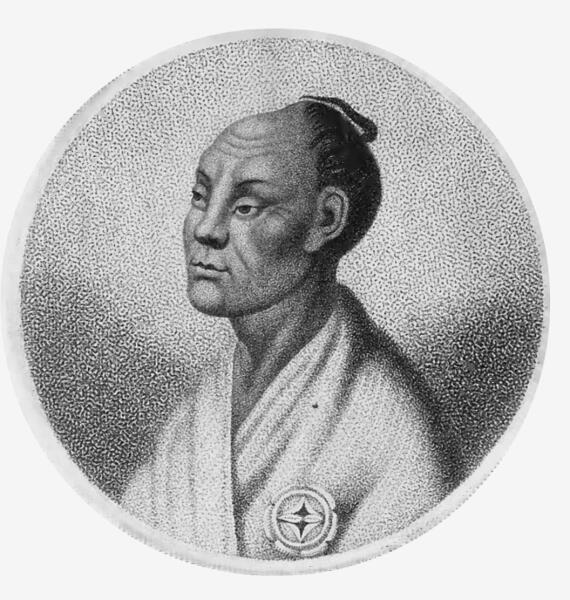 Такадая Кахэй на рисунке члена экспедиции Головнина, 1813 г.