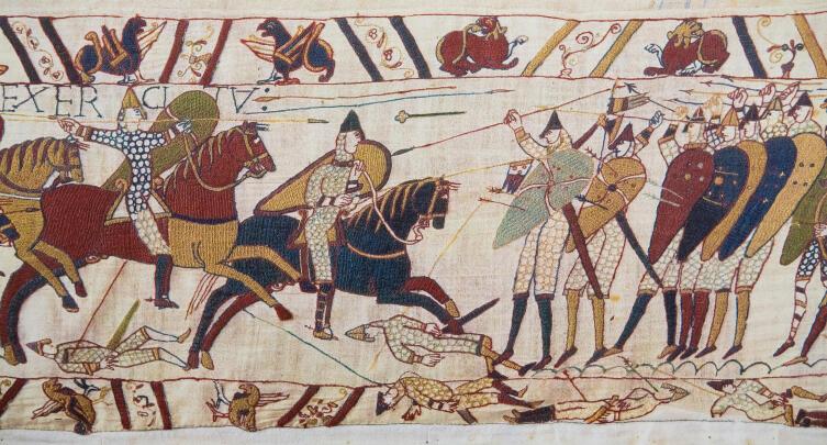 Метательная булава (?) на ковре из Байо, кон. XI в.