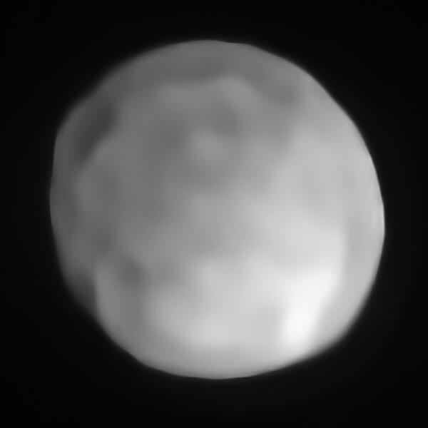 Снимок Гигеи телескопом VLT (спектрограф SPHERE)