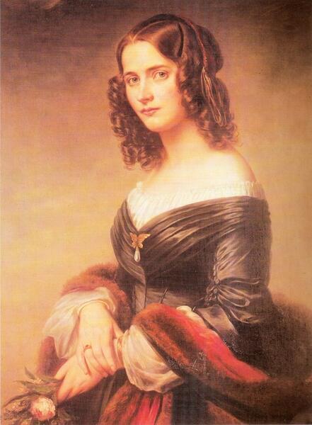Сесиль Жанрено, жена Феликса Мендельсона. Портрет 1840 г.