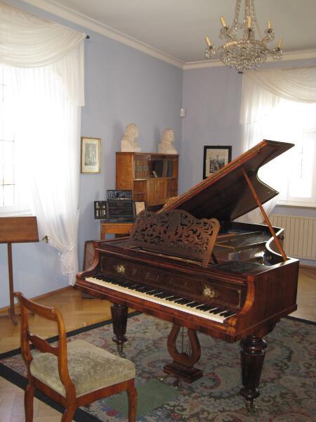 Музыкальная комната композитора в музее Шумана в Цвиккау