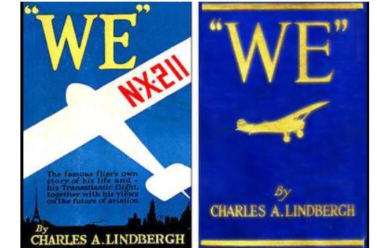 Первые издания книги Чарльза Линдберга «Мы»