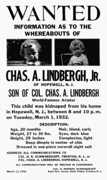 Поиск похитителя Чарльза Линдберга -младшего