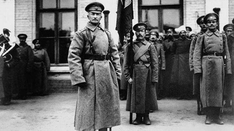 Первая мировая война. Генерал А. А. Брусилов на станции Ровно, 1915 г.