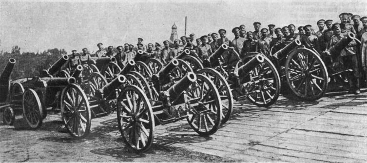 Австрийские орудия, захваченные русскими войсками