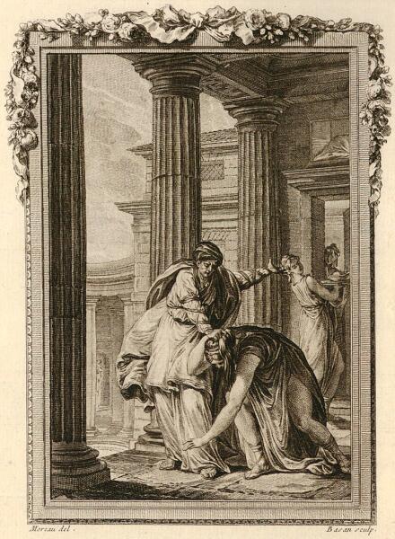 Пьер-Франсуа Басан (по рисунку Жан-Мишеля Моро), «Луцина превращает Галантиду в ласку».