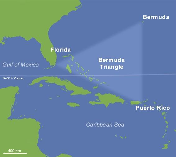 Месторасположение Бермудского треугольника