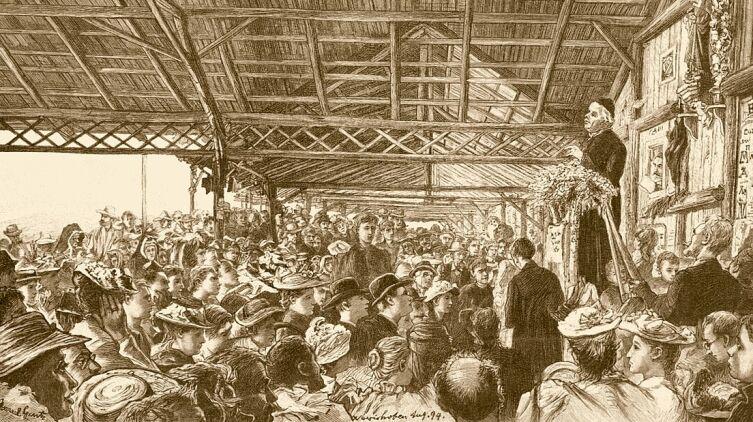 Себастьян Кнейпп выступает перед народом